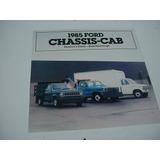 Folder Ford Furgao F-350 Chassis Van Econoline 85 1985 V8