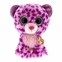 Peluche Ty Ojos Grandes Leopardo Rosa 25cm Beanie Boos