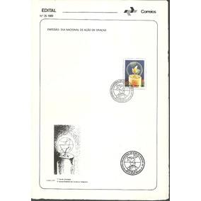 Edital Correios N.25 1989 Dia Nacional De Açao De Graças