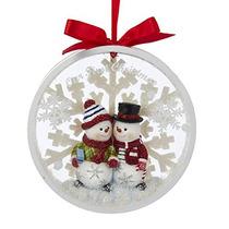Kurt Adler Muñeco De Nieve Pareja Nuestra 1ra Navidad Junto