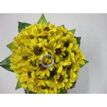 Buque Daminha Mini Flores Amarela Porta Alianças Permanente