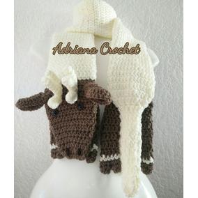 Bufanda Reno Santa Grinch Navidad Crochet Tejidos