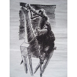 Vasco Prado - Dom Quixote E Sancho Pança Gravura Original As