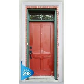 Adesivo 123 Porta Cofre Antigas Madeira Pedra Mod 298