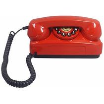 Telefone Antigo Retrô Vintage Tijolinho Vermelho