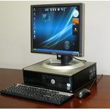 Computadora Completa Dell /hp Con Monitor Lcd De 15 Wiffi