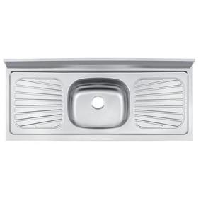 Pia De Cozinha Em Aço Inox 120 X 52 Cm Standard Tramontina
