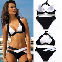 Sexy Bikini Blanco Y Negro
