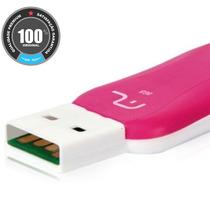 Pen Drive Titan 8 Gb Rosa - Preto Multilaser Usb 2.0 Rápido