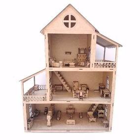Casa De Boneca Polly 80cm Com Móveis - Criança - Brinquedo