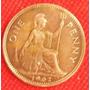 1 Penny 1962 Gran Bretaña Moneda Reina Isabel Il - Hm4
