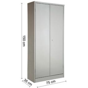 Armário De Aço 2 Portas Com Prateleira 1,50 X 75 X 35
