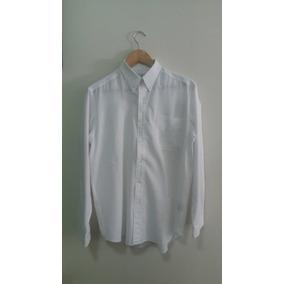 Camisa Social Branca Masculina Manga Longa Long Ford
