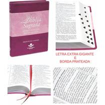 Bíblia Sagrada Feminina Letra Extra Gigante Grande Índice