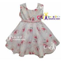 Vestido De Festa Infantil Tamanhos 4 Ao12 Com Tiara
