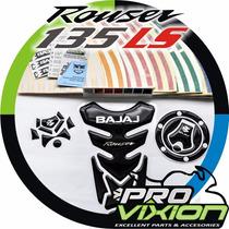 Kit Protectores + Cintas Reflectivas - Moto Bajaj Rouser 135