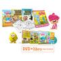 Canciones De La Granja Y Zoo 4 Dvd + 4 Libros Para Colorear