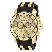Relogio Invicta Pro Diver 17885 Black/gold 12x Sem Juros