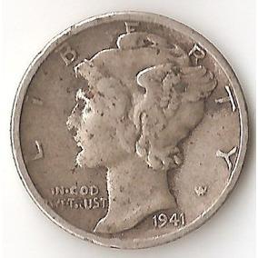 Estados Unidos, Dime, 1941 S. Plata. Il Guerra. Vf