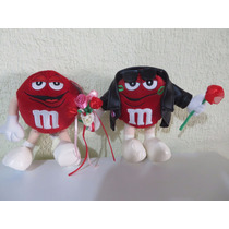 Peluche Chocolates M&m Rojo Romanticos 24cm