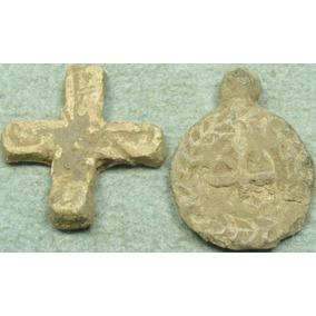 Raras Piezas.cruz Y Sello Bizantino O Templario A Clasificar