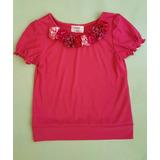 Nuevo Blusas Para Niñas Con Flores De Tela