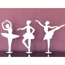 35 Bailarinas 30cm Mdf Branco Lembranças Festas Decoração