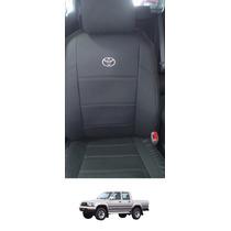 Capa Banco Couro Ecológico Courvin Toyota Hilux 2002 A 2005