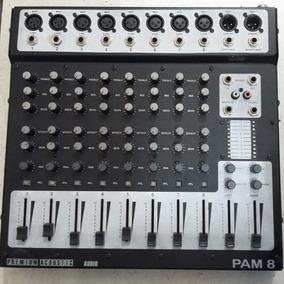 Mesa De Som Premium Acoustic Sond Maker 8 Canais Balanceada