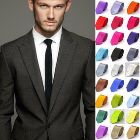 Corbatas Delgadas, Slim Tie, Unisex Lote De 5 Piezas