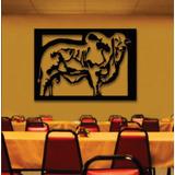 Quadro Boi Nelore Em Escultura De Mdf Restaurante Bar