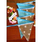 Banderines Tela Y Arpillera Cumpleaños Decoración Tematico