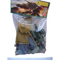 Soldados Plasticos Army 18 Soldaditos 2 Tanque 1 Cañon 01