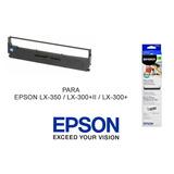 Cinta Epson S015631 Original Para Lx350 , Lx300+ Y Lx300 Ii