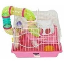 Gaiola Hamster Labirinto Safari 2 Andares Completa