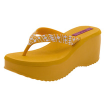 Tamanco Feminino Anabela Amarelo Dijean - 281093