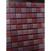 Malla Decorativa Para Muro Cristal 2.5x2.5 Cms Rosa