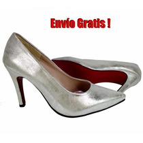 Stilettos Modernas Zapatillas Rivera Color Plata