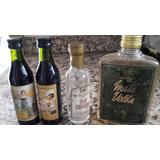 Lote 4 Botellitas Miniatura Tequila-2 Fernet Branca-cachaza