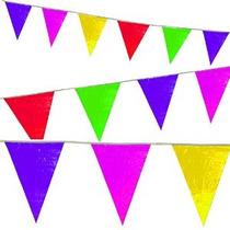 100 Del Pie Del Arco Iris Multicolor Banderín Banner - Inter