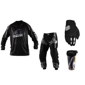 Kit Camisa Insane Calça + Luva Asw Trilha Motocross + Brinde