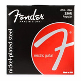 Fender 250r Cuerdas Guitarra Eléctrica 10-46 Originales