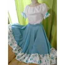 Conjunto Traje Paisana Pollera Folclore Danza+blusa 5 A 8año
