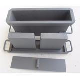 Forma Fazer Blocos 10 Cimento Concreto Com Fundo 9x19x39 Cms