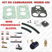 Kit Carburador Passat/gol/voyage Ate 83 1.6 Alcool Weber 450