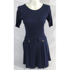 Vestido Tassa Azul Marinho Glam 94%viscose 6%elastano R1841