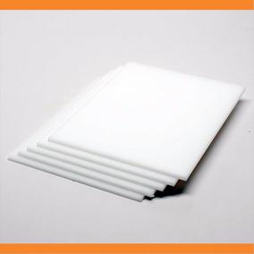 Placa De Acrílico Branco Leitoso 3mm - 100cm X 50cm - 100%