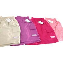 Shorts Feminino Elástico Cintura Algodão Colorido Adulto