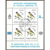 Argentina Pajaros Ave Cabecita Negra 18a/1123 - Gj 28/1819