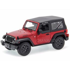 Jeep Wrangler Willys 2014 Maisto 1:18 Vermelho 31676